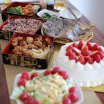 祝いの食卓。